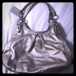 Authentic Coach bag / Tote - Metallic silvery gold
